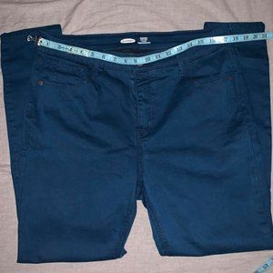 Old navy blue jeans.